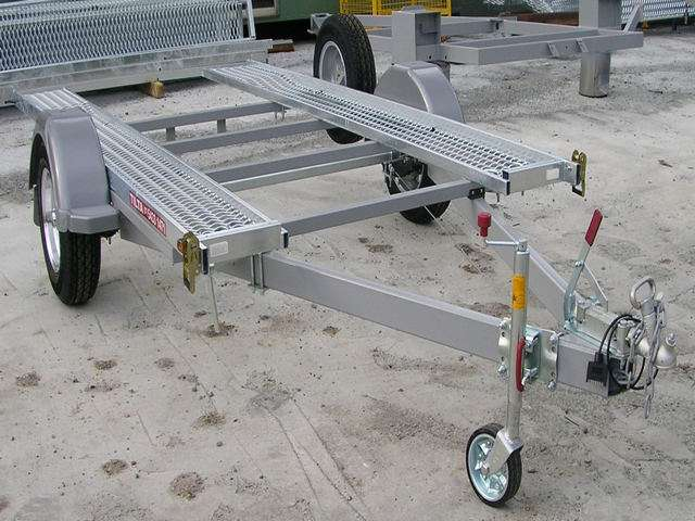 Single Axle tilting car trailer